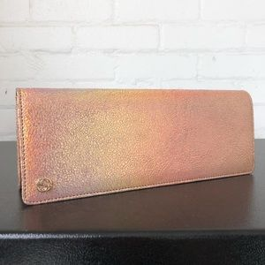 Gucci Metallic Clutch Handbag Purse MINT
